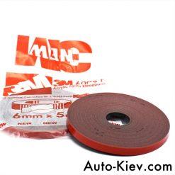 Скотч 3М профессиональный 6мм 5м Made in Germany 3M Automotive Acrylic Foam Tape серия GT6008