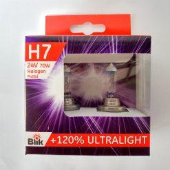 BLIK 61424 H7 70W PX26d 24v ULTRALIGHT + 120% компл 2шт.