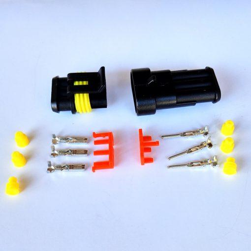 Разъем герметичный на 3 контакта без провода (к-т)