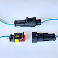 Разъем герметичный на 2 контакта с проводом (к-т)