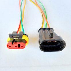 Разъем герметичный на 3 контакта с проводами (к-т)
