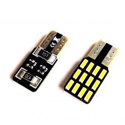 светодиод T10 12smd 4014 драйвер 150Lm 12v односторонний, плоский