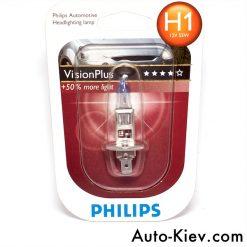 Philips 12258VPB1 H1 VisionPlus 55w 12v P14.5s блистер 1шт