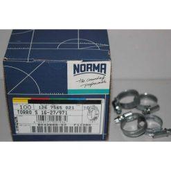 хомут NORMA W2 16-27/9 нержавейка ширина 9мм размер 16...27мм