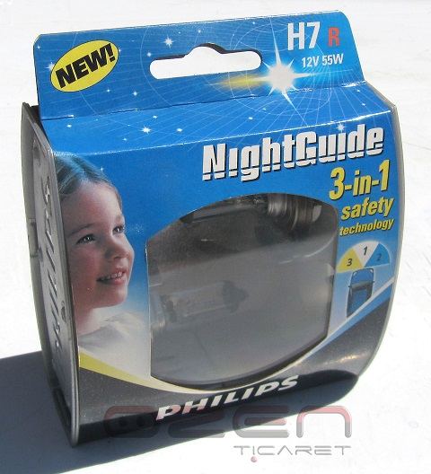 Philips 12972 H7 NGDL/S Night Guide 55W 12V