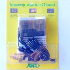 ермометр-вольтметр для измерения температуры двигателя цифровой 24v