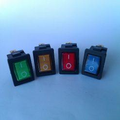 Выключатель врезной с подсветкой среднего размера