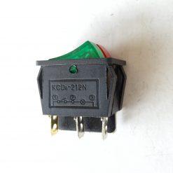 Выключатель двойной врезной цветной с подсветкой KCD8-212N