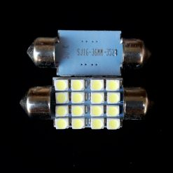 Автолампа Festoon 16x36 LED 16smd 3528 SV8,5 12v 200Lm. SJ16-36MM3528