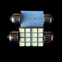 Автолампа Festoon 16x36 LED 16smd 3528 SV8,5 12v 200Lm. SJ16-36MM3528