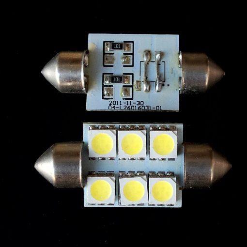 Автолампа Festoon 16x36 LED 6smd 5050 SV8,5 12v 200Lm. 04-L26016031-01