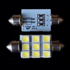 Автолампа Festoon 16x39 LED 9smd 5050 SV8,5 12v 280Lm. FOR-S8.5-5050/9 E351429 XCL-1 94V-0