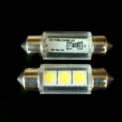 Автолампа Festoon 10,5×36 LED 3smd 5050 SV8,5 12v 90Lm в стекле 4000К. 04-FORL03005-03