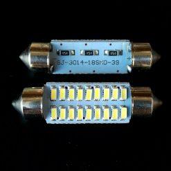 Автолампа Festoon 10x39 LED 18smd 3014 SV8,5 12v, SJ-3014-18SMD-39