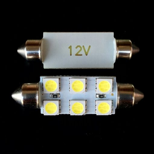 Автолампа Festoon 13x41 LED 6smd 5050 SV8,5 12v 350Lm. Производитель Crystal-Light