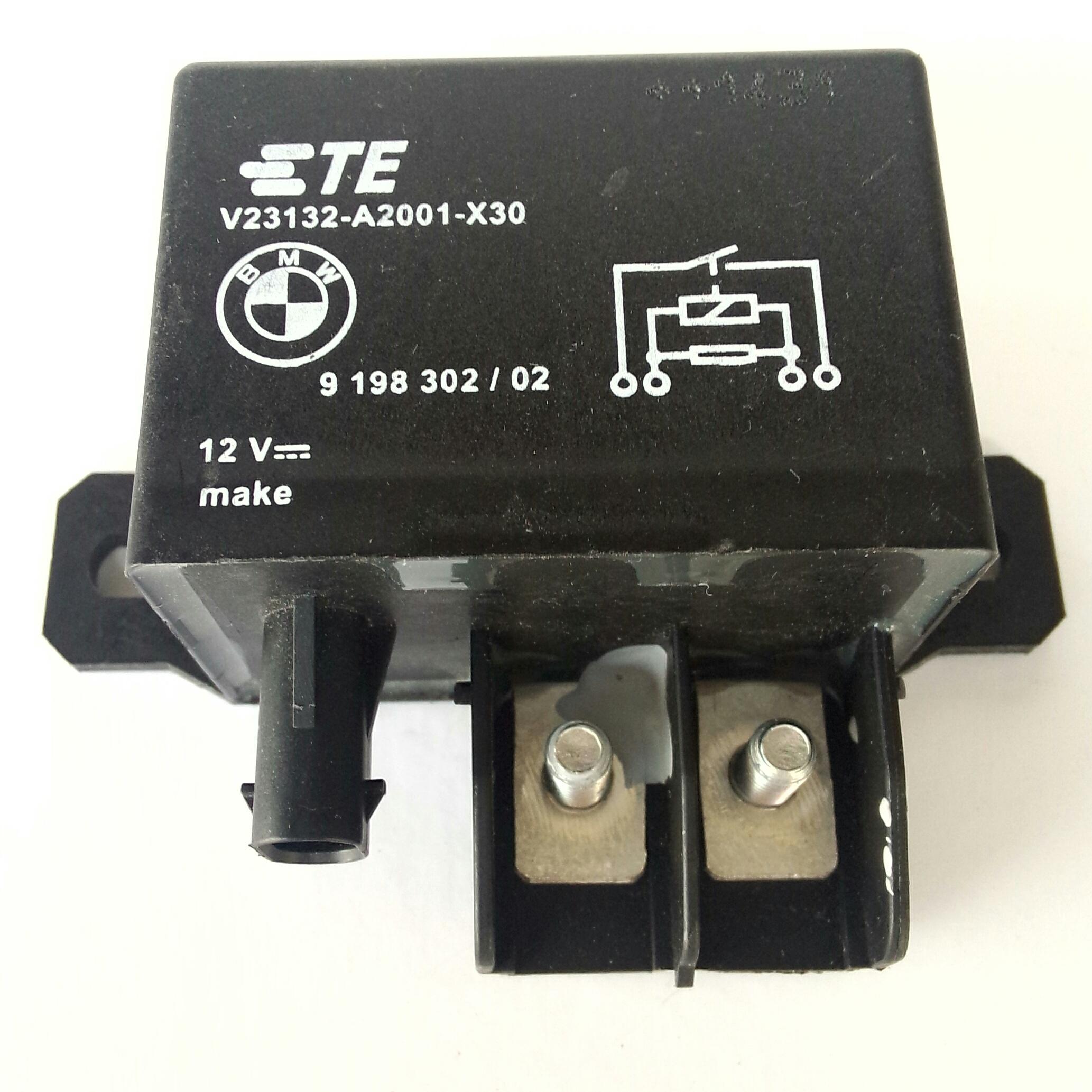 Реле 130A 12v BMW 61 36 9 198 302 V23132-A2001-X30 используется как реле стартера и эл. вентилятора