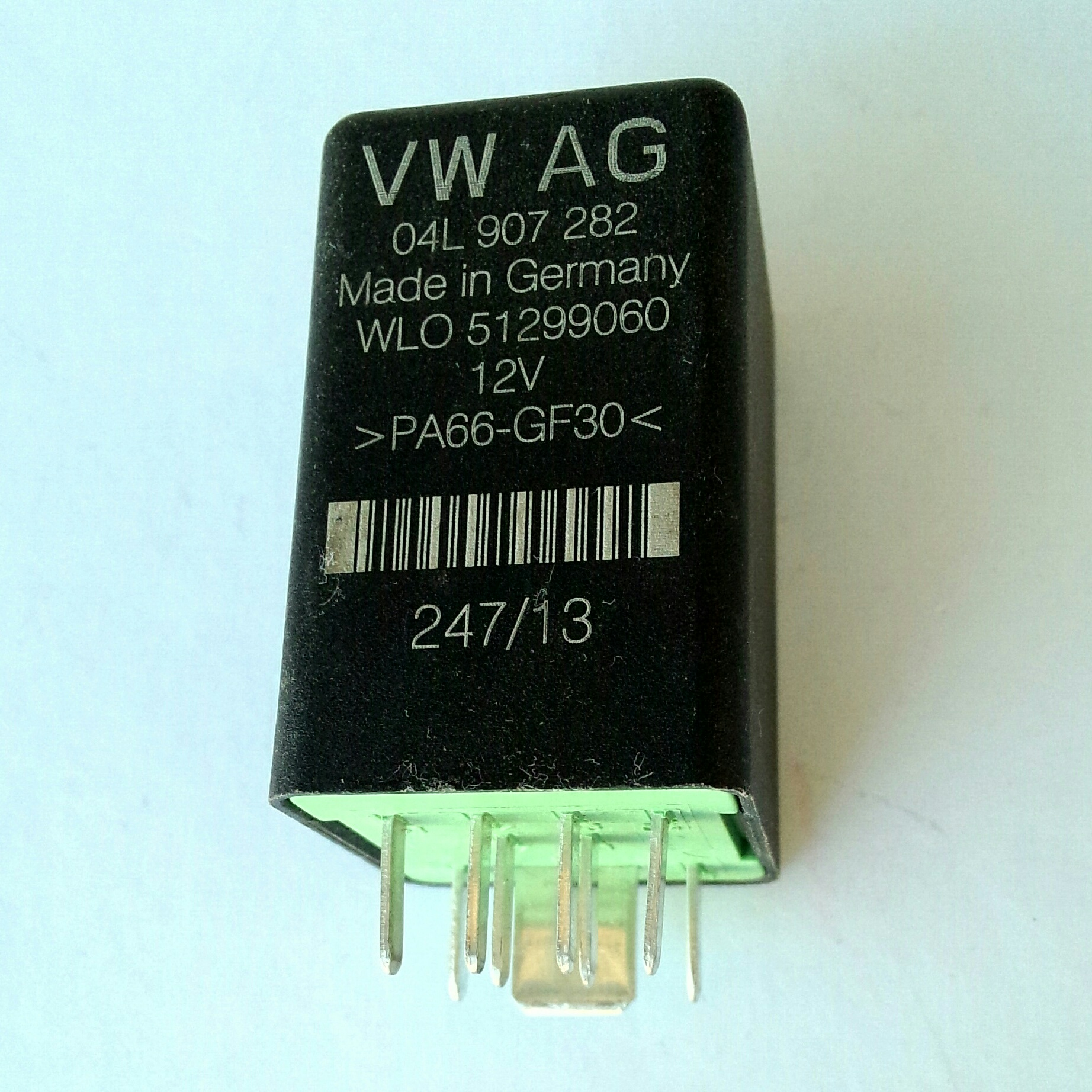 Реле свечей накала VW AG 04L 907 282 Made in Germany WLO 51299060 12V >PA66-GF30