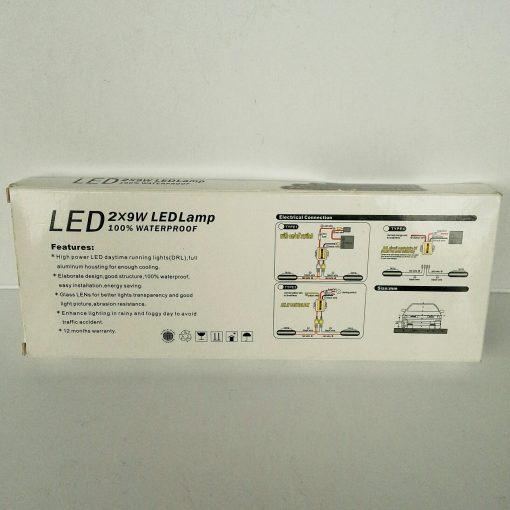 Дневные ходовые огни DRL 08 Alumium 24SMD 5630 LED 2x9W 100% Waterpof