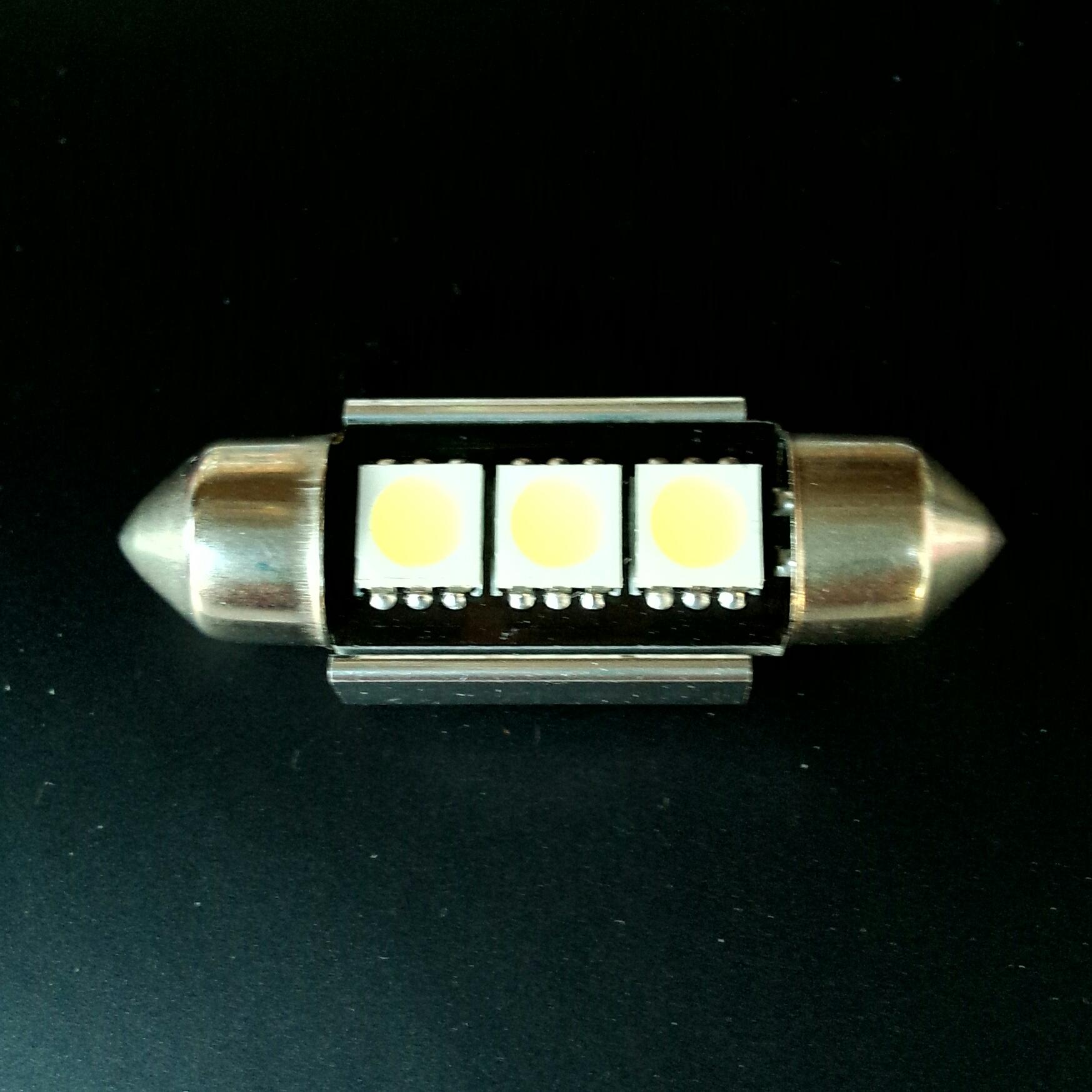 Автолампа Festoon 10,5x36 LED 3 smd 5050 SV8,5 12v canbus (обманка) 90Lm