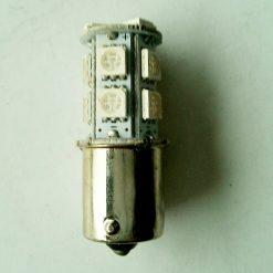 Светодиод T25 13smd(5050) BA15s 24v красный