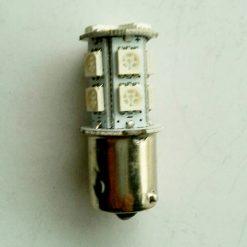 Светодиод T25 13smd(5050) BA15s 24v желтый