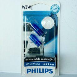 Philips 12961BV2 W5W White Vision 12v W2,1x9,5d блистер 2шт