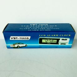 часы 7065V LCD с функцией будильника, календаря, термометра (t внутри, t за бортом)