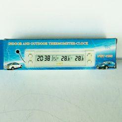 автомобильные часы 7036 LCD (с внутренним и наружным термометром)