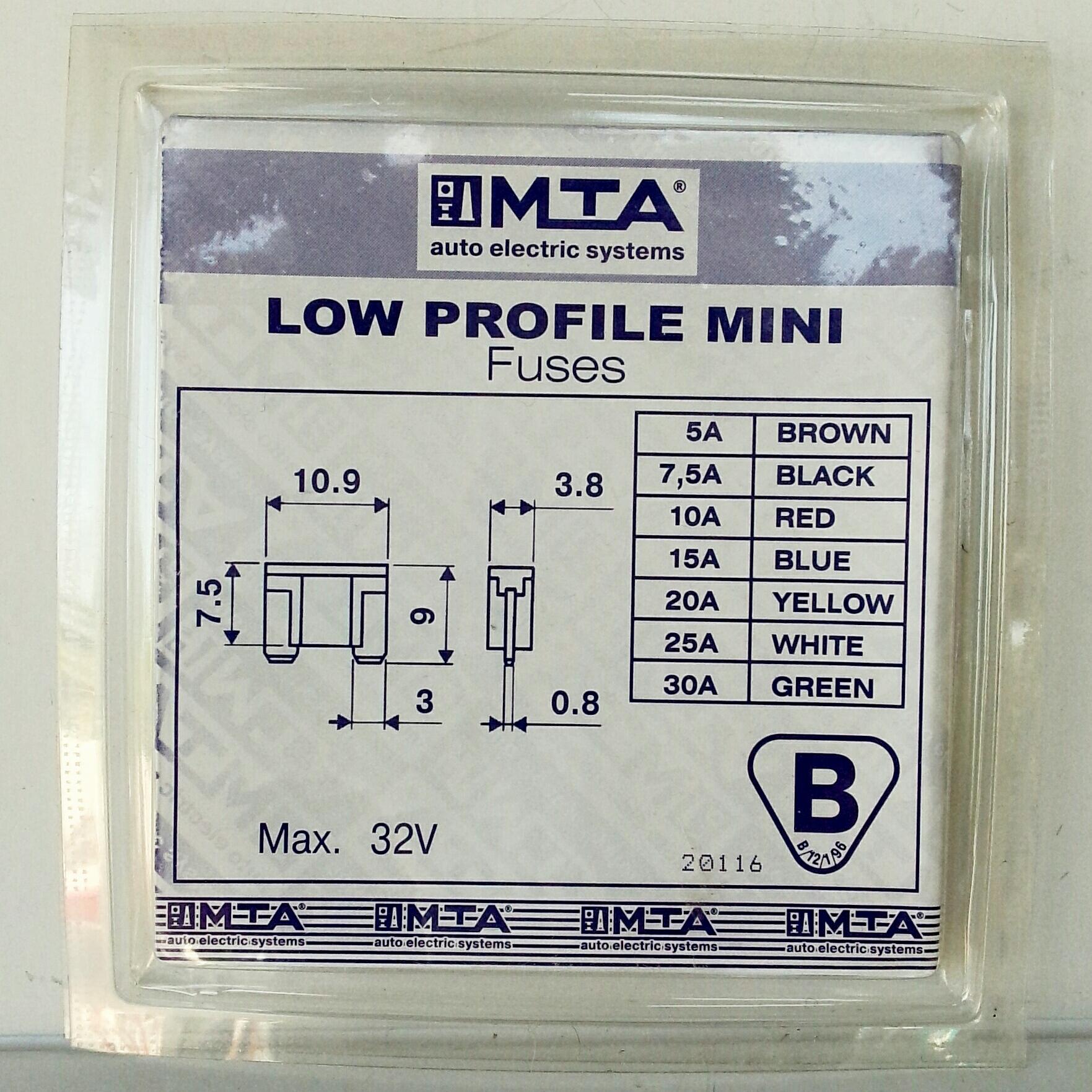 Набор предохранителей MTA mini-extra Италия, mini low profil.