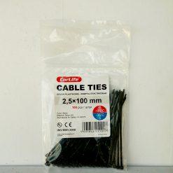 Хомут пластиковый 100х2,5мм CarLife 100шт. Nylon 6.6 (Нейлон) Made in P.R.C