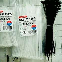 Хомут пластиковый 200х3,6мм CarLife 100шт. Nylon 6.6 (Нейлон) Made in P.R.C