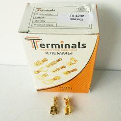 "Клемма ""мама"" 6.3мм толщина 0.35мм под провод 0.75-2.5кв.мм Terminals RoHS made in Turkey."