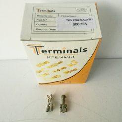 "Клемма ""мама"" 6.3мм толщина 0.35мм под провод 0.75-2.5кв.мм луженая Terminals RoHS made in Turkey."