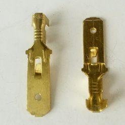 "Клемма ""папа"" 6.3мм толщина 0.4мм под провод 0.75-2.5кв.мм Terminals RoHS made in Turkey. Упаковка 300шт"