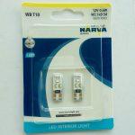 Светодиод T10 NARVA 18001 LED 6000K 0.35w 12v