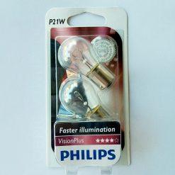 Philips 12498VPB2 21W VisionPlus 12v BA15s (+60%) блистер 2шт
