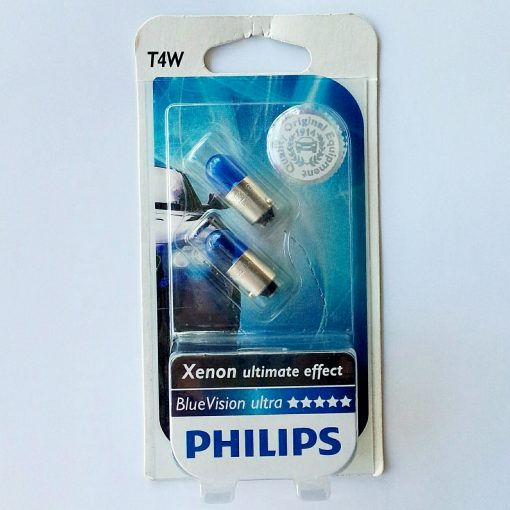 Philips 12929BVB2 T4W BlueVision ultra 12v BA9s Xenon ultimate effect