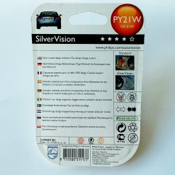 Philips 12496SVS2 PY21W SilverVision 12v BAU15s (2шт) AMBER Silvervision