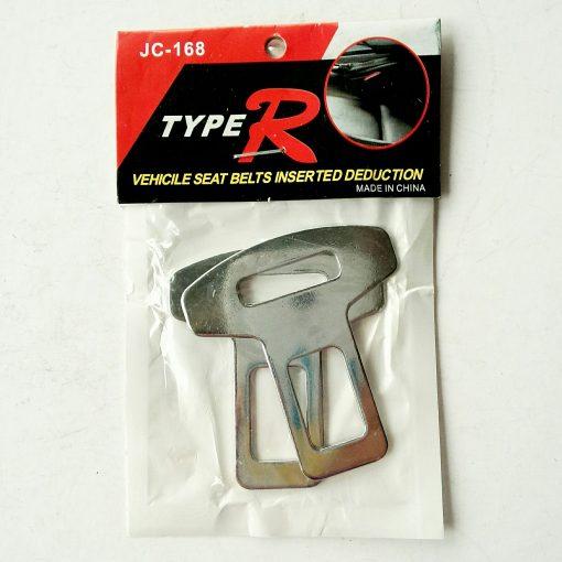 Заглушка ремня безопасности металлическая хром 2шт