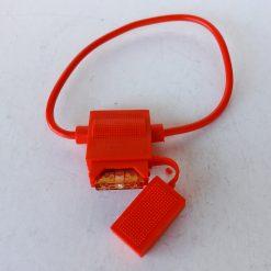Корпус под предохранитель флажковый евро 1A-20А закрытый красный