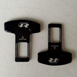 Заглушка ремня безопасности металлическая черная 2шт