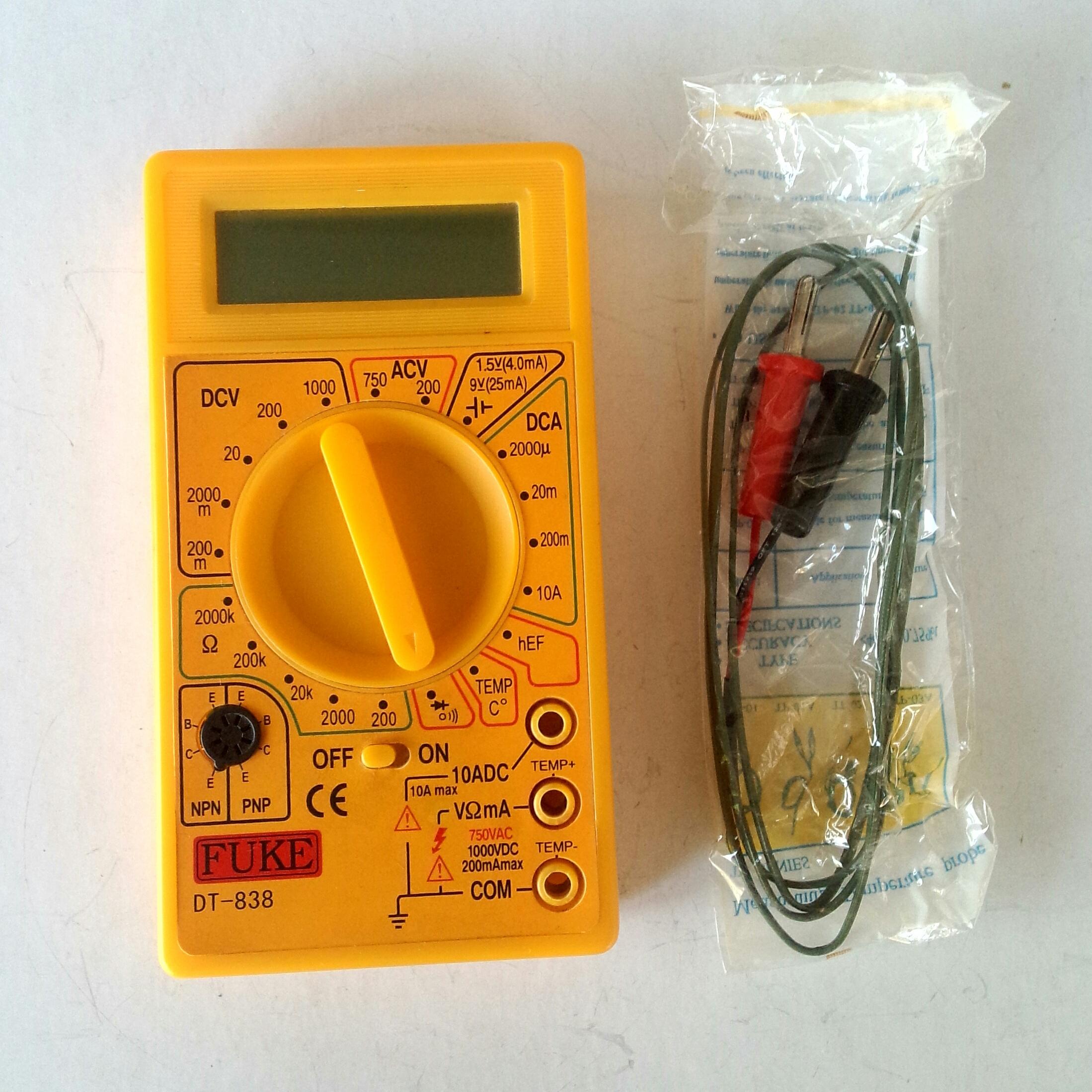 Мультиметр DT-838 FUKE выключатель, термопара