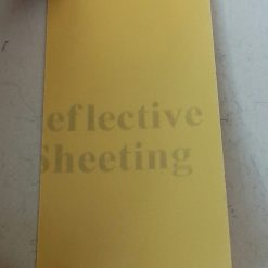 Светоотражающая лента желтая ширина 50мм