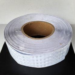Светоотражающая лента перфорированная белая ширина 50мм.