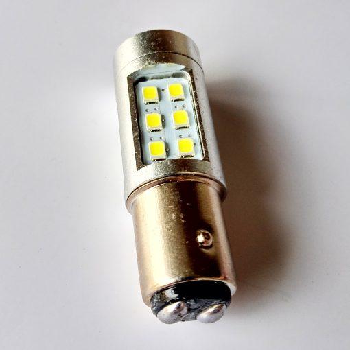 светодиод T25 21smd 2835 12v BAY15d 180/840Lm белый