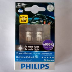PHILIPS LED X-treme Vision 6000K T10 W5W 127996000KX2