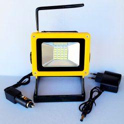 Прожектор аккумуляторный ручной 204 30W с мигалкой
