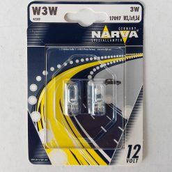 Narva 17097BL W3W 12v W2.1&х9.5d (блистер 2шт.)