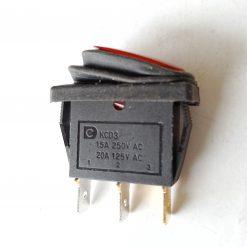 Выключатель водонепроницаемый врезной. Окно под установку 10,5*28,5мм. Серия переключатель KCD3-101