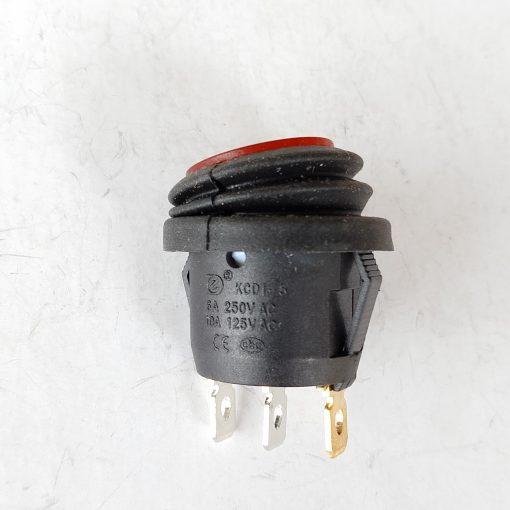 Выключатель водонепроницаемый врезной. Отверстие под установку 21,4мм. Серия переключатель KCD1